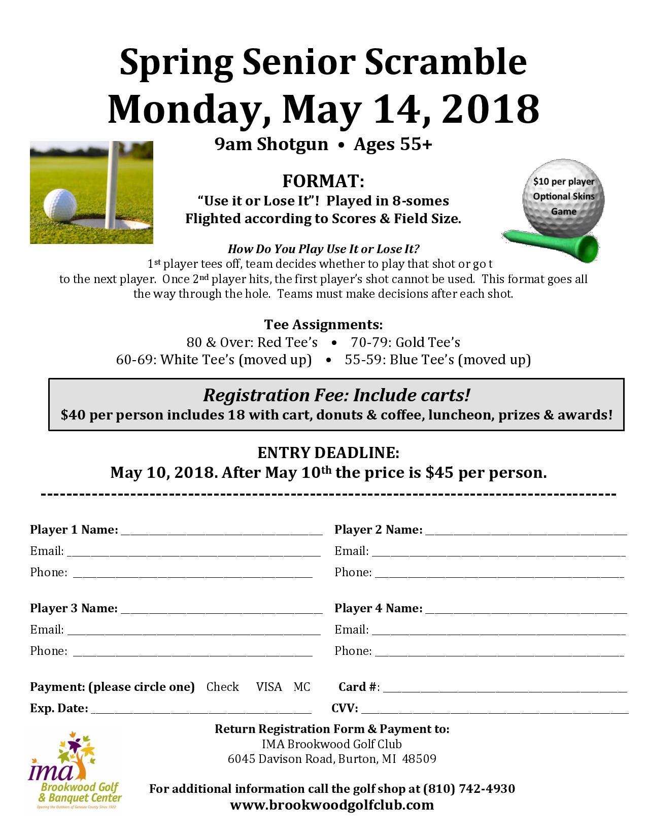 Spring Senior Scramble - IMA Brookwood Golf Club